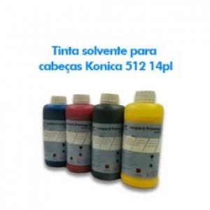 Tinta solvente para cabeças Konica 512 14pl